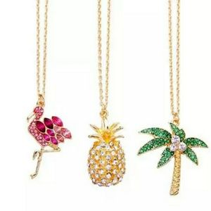 Crystal Pineapple Pendant Necklace